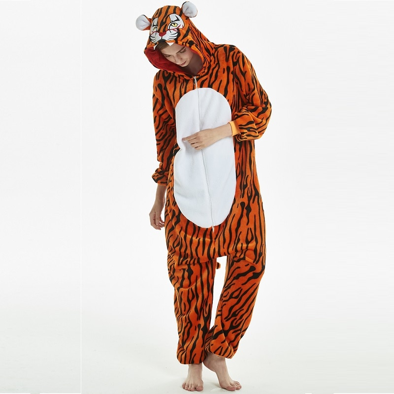 Flanela onesies para adultos Homens kugurumi onisie Toda quente onepiece pijama animal Kigurumi onesie tigre combinaison pijama adulto