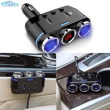 12V 24V розетка для автомобильного прикуривателя сплиттер светодиодный USB Зарядное устройство адаптер для Мобильный телефон DVR зарядных порта USB для автомобиля Зарядное устройство авто аксессуары