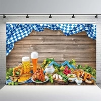 yeele happy oktoberfest party backdrop photographic bread wood board beer food background photography poster photo stuid props