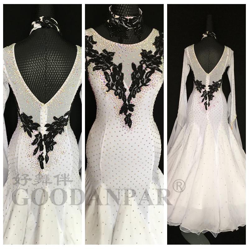 GOODANPAR-فستان رقص قياسي جديد لعام 2020 ، زي مسابقة الفالس ، ملابس رقص المسرح ، ملابس بأكمام