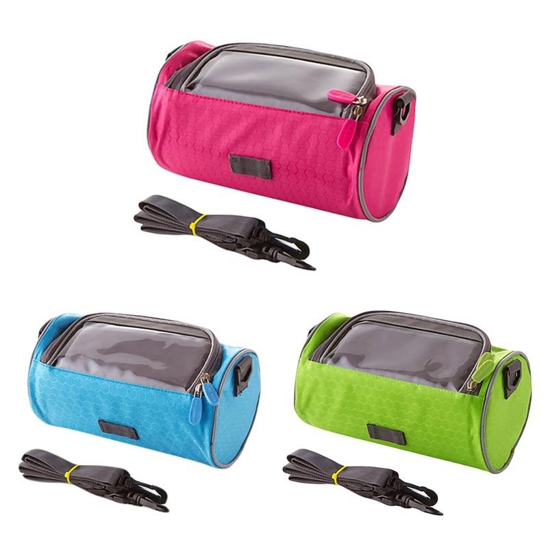 Bolsas grandes para manillar de bicicleta, bolsa impermeable para teléfono y pantalla táctil, para estudiantes, mujeres y niñas, accesorios para ciclismo