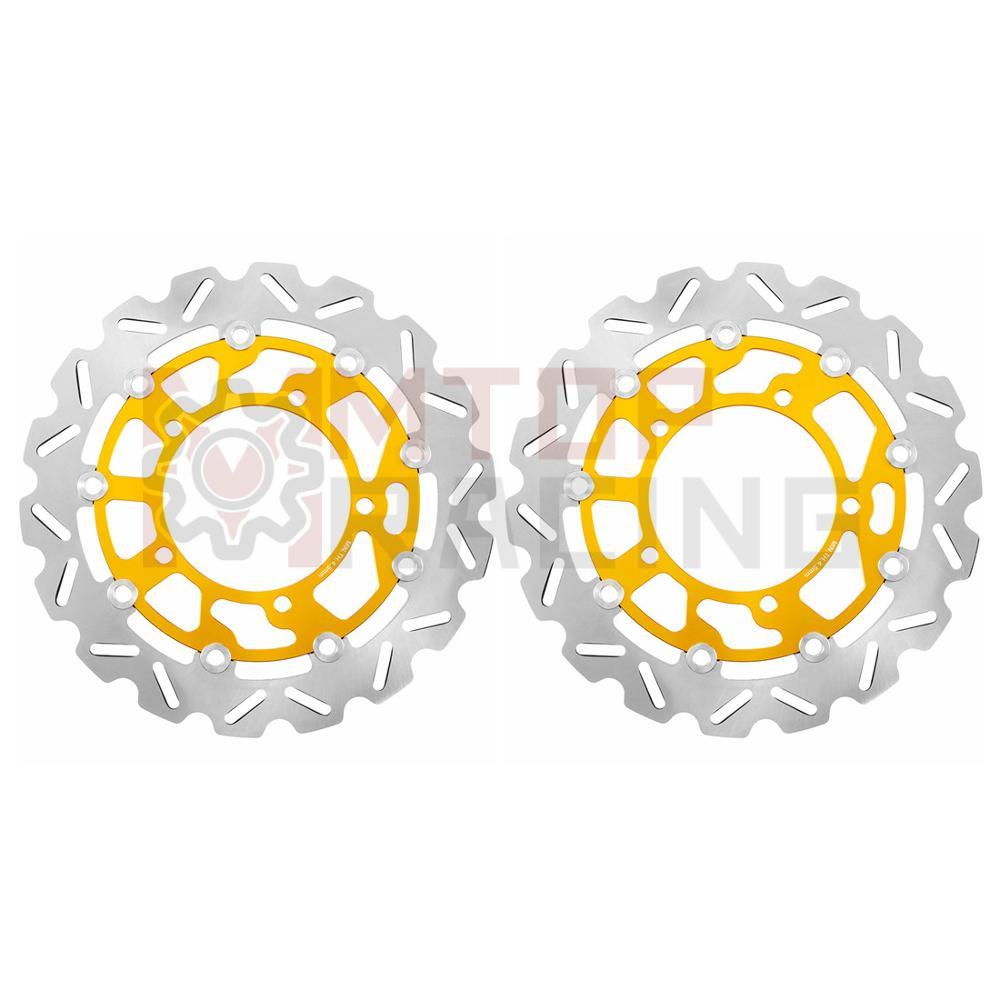زوج الجبهة الفرامل الدوار أقراص ل سوزوكي GSR400 2006-2008 GSR600 2006-2010 DL650 V-STROM GSF650 اللصوص 2007-2012 GSX650F 2008-12