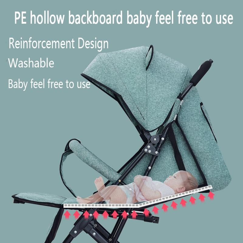 2021 new upgrade baby four-wheel stroller wagon portable folding stroller light stroller travel European stroller enlarge