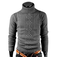 winter warm turtleneck sweater men vintage pull homme casual pullovers male outwear slim knitted sweater solid jumper