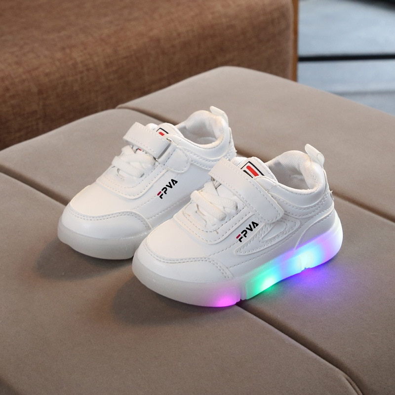 2021 luminous girls boys sneakers children kids casual sport led sneakers shoes baby tenis leather g