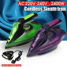 2400W Electric Steam Iron 220-240V Cordless Charging Steam Iron 5 Speed Adjust Clothes Ironing Steamer ABS+Ceramic Soleplate