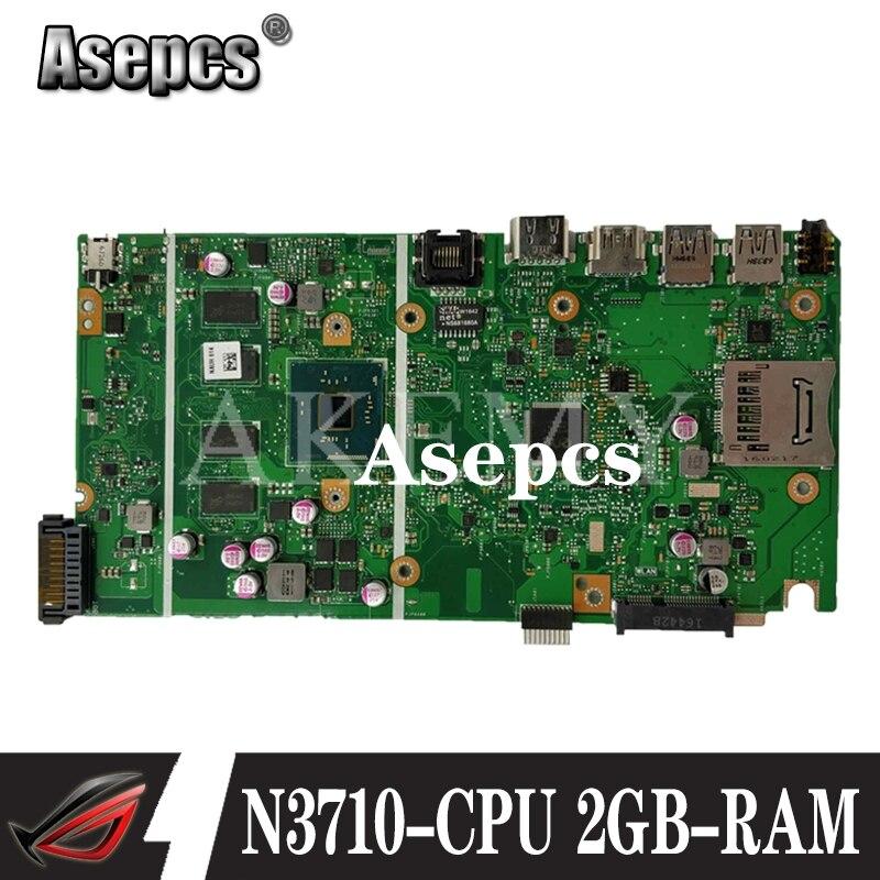 ¡Nuevo! Placa madre REV 2,0 X541SA para For Asus X541 X541S X541SA, placa base para ordenador portátil, prueba ok N3710-CPU 4 núcleos + 2GB-RAM