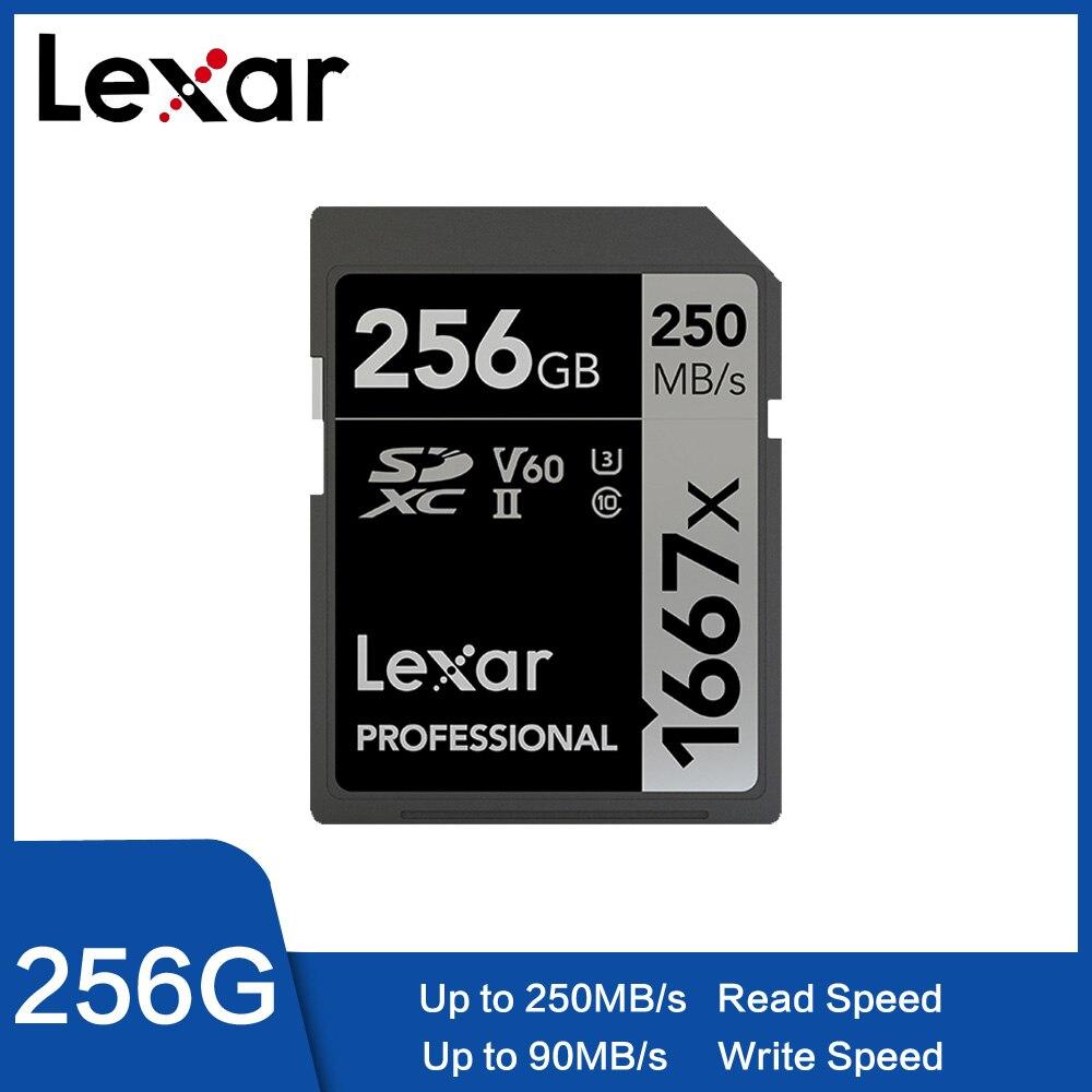 Lexar Original 32GB tarjeta SD de 64GB 1667x150 MB/s 128GB tarjeta de memoria de 16GB SD Class10 cartao de memoria de UHS-II U3 SDHC SDXC