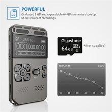 Профессиональный HD Цифровой диктофон однокнопочный диктофон для записи шума диктофон 8G большой емкости диктофон USB зарядка