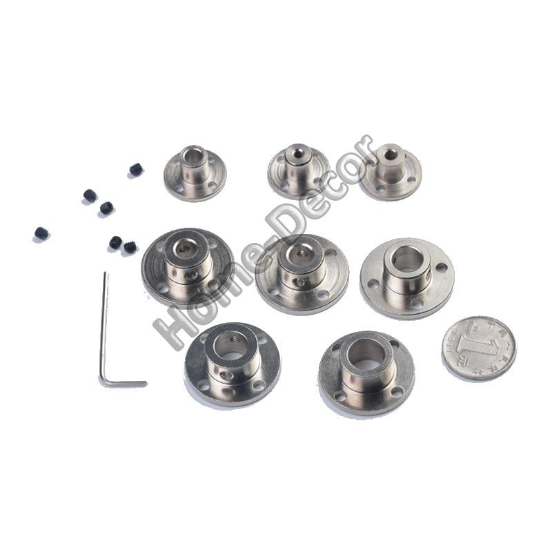 1pc brida de Metal conjunto barco Metal Cardan joint acoplamientos de cardán Universal conector de junta multi-especificación con gratis tornillo y llave