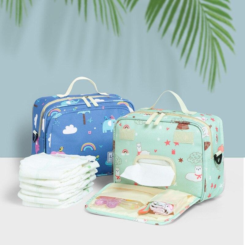 Mommy Diaper Bag Baby Stroller Bag Organizer Travel Hanging Carriage Mommy Shoulder Bag Buggy Pram Cart Basket Maternity Handbag