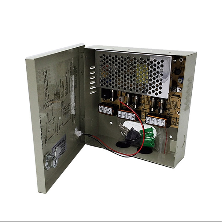 Poder supply12V 5A 12v 5A 4 ch interruptor caixa de energia caixa de energia LED de monitoramento centralizado comutação da fonte de alimentação