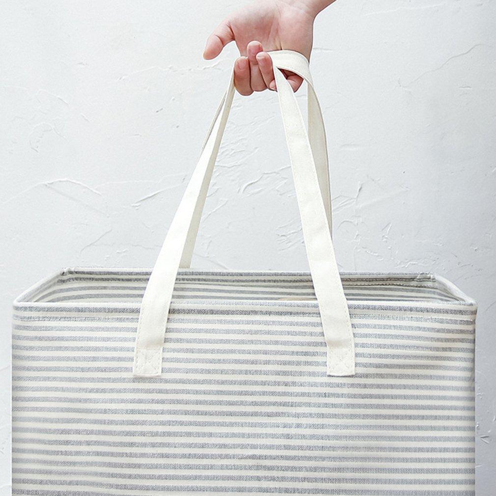 طوي الملابس القذرة تعيق كبيرة أشتات سلة قائمة بذاتها حقيبة التخزين مع مقابض طويلة سلة الغسيل