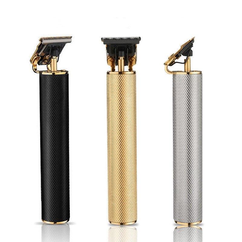 Cortadora de pelo eléctrica para hombres, V-058 de tallado, pulsador pequeño, blanco, retro, T9, cabezal de aceite, cortadora eléctrica, cortadora de pelo recargable