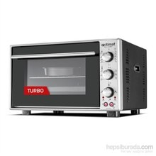 İtimat Timerli Thermostat Oven Turbo Fan Staninless