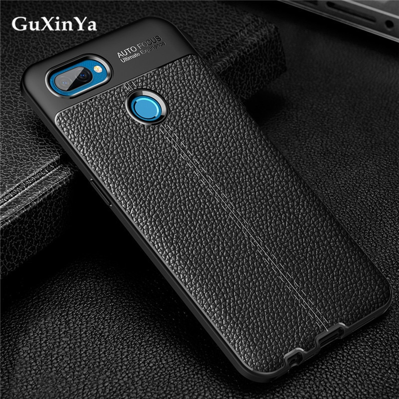 Phone Case For Oppo A12 Cover Luxury Leather ShockProof TPU Protective Back Case For Oppo A12 Funda