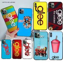 HPCHCJHM comédie Glee bretagne Coque Coque Coque téléphone pour iPhone 11 pro XS MAX 8 7 6 6S Plus X 5S SE 2020 XR étui