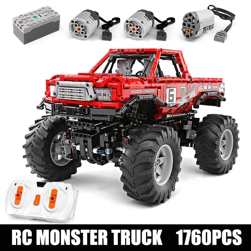 Série técnica toyotas hilux o 4x4 fora da estrada vehile modelo blocos de construção compatível 29256 presente natal brinquedos