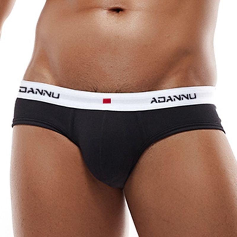 ADANNU Men Underwear Men Briefs Cotton U Convex Comfortable Underpants Breathable Quick Dry Male Pants