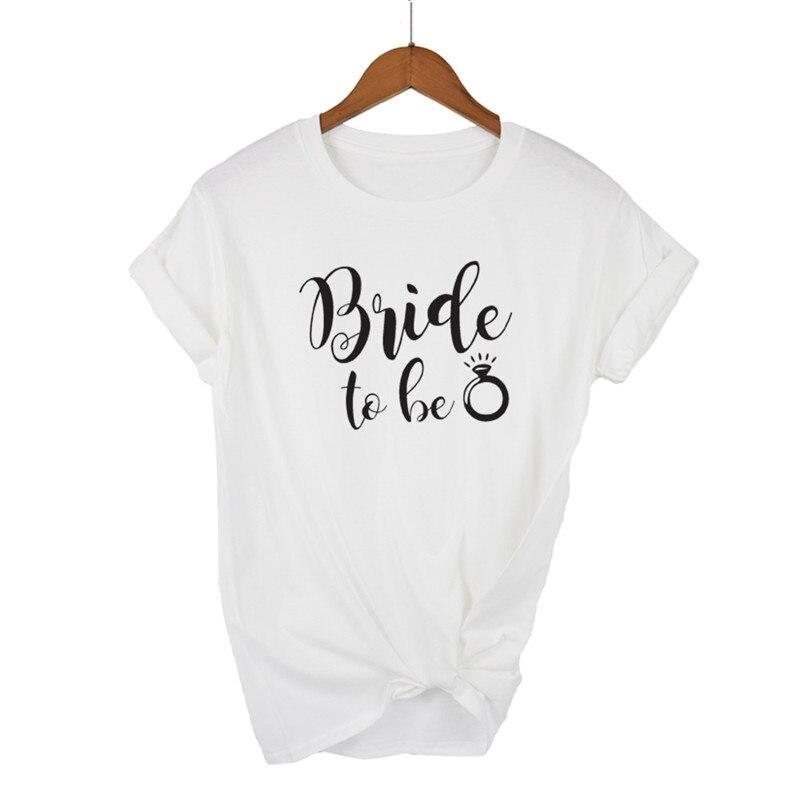 Camiseta blanca y negra para mujer de LUSLOS, camiseta de Harajuku para mujer con estampado de letras de la novia a ser, camisetas clásicas con estampado de Trumble, ropa de calle, ropa para mujeres