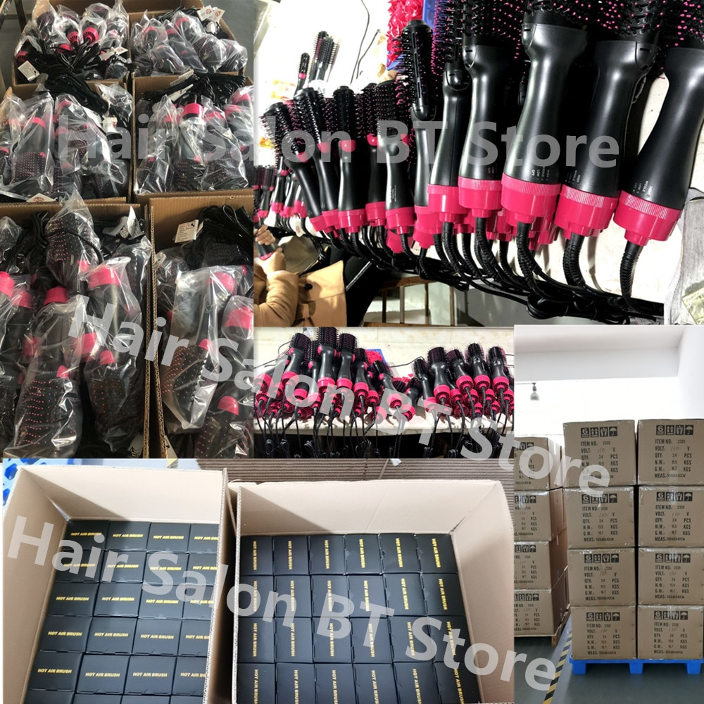 Professional 2 in 1 Multifunctional Hair Dryer Volumizer One Step Hair Drying Brush Electric Hot Air Brush Rotating Hairdryer enlarge