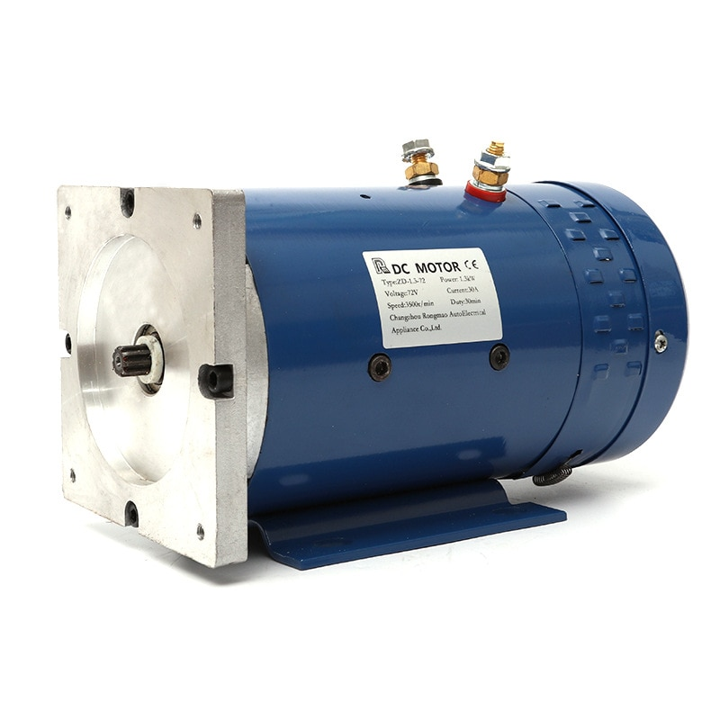 Factory Direct 60V 72V 1.3kw DC Motor Power Unit Motor Copper Wire Movement Oil Pump Motor The Brush DC Motor Electrical Iso9001 enlarge