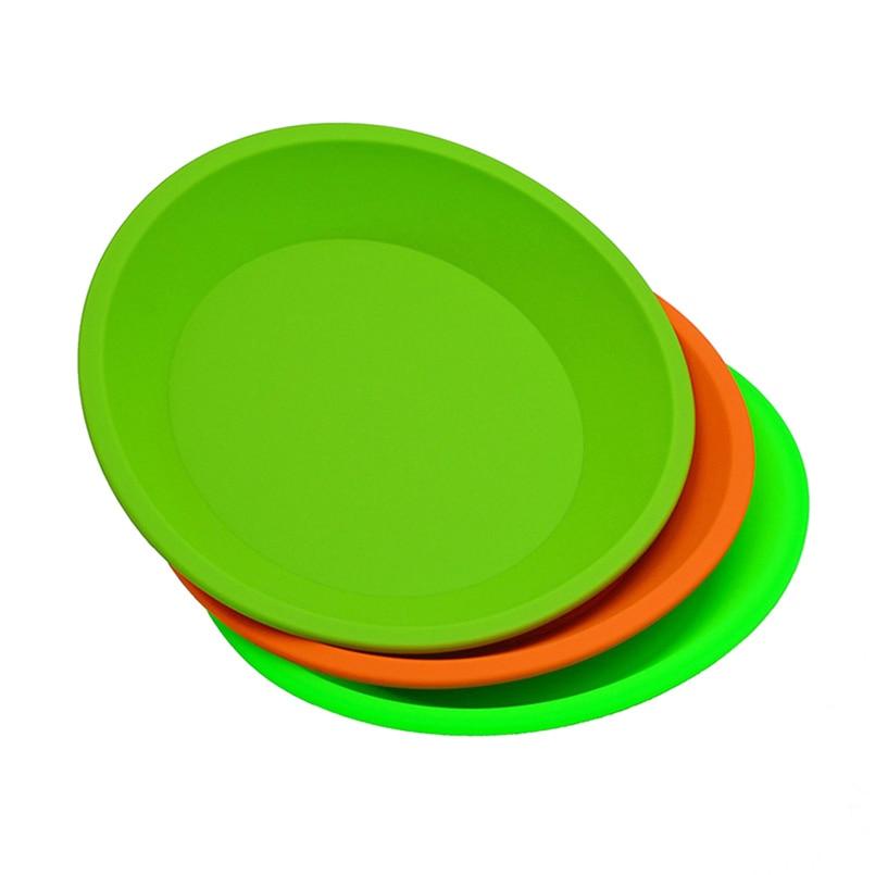 1 FDA pc Redondo Liso deep dish bandeja de Silicone recipiente bho extrato concentrado de óleo Não-stick de cera de hash butano prato óleo pad