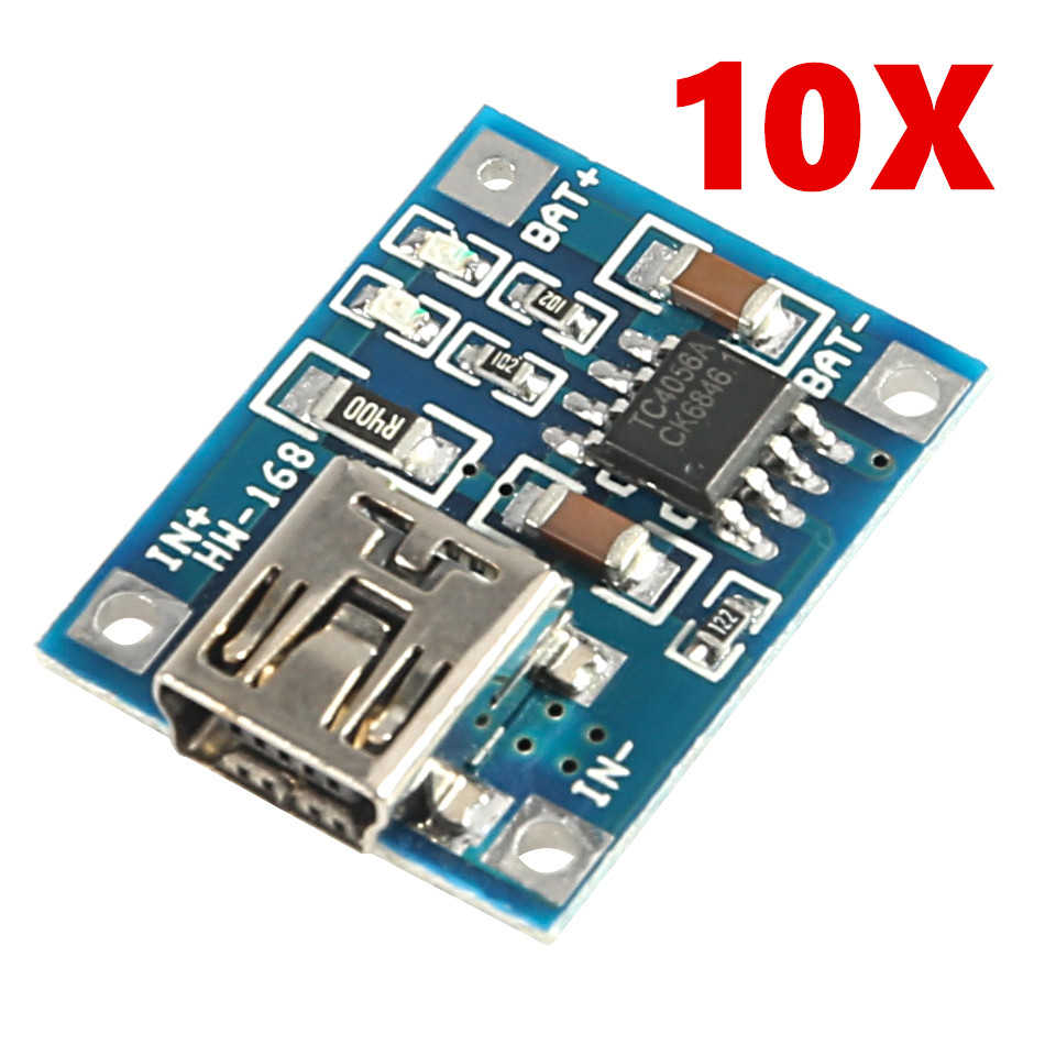 Фото - 10PCS mini USB 5V 1A TP4056 Lithium Battery Charger Module Charging Board With Protection Dual Functions 1A Li-ion 10pcs 5v 1a type c usb 18650 lithium battery charging board charger module protection dual functions tp4056 module charging