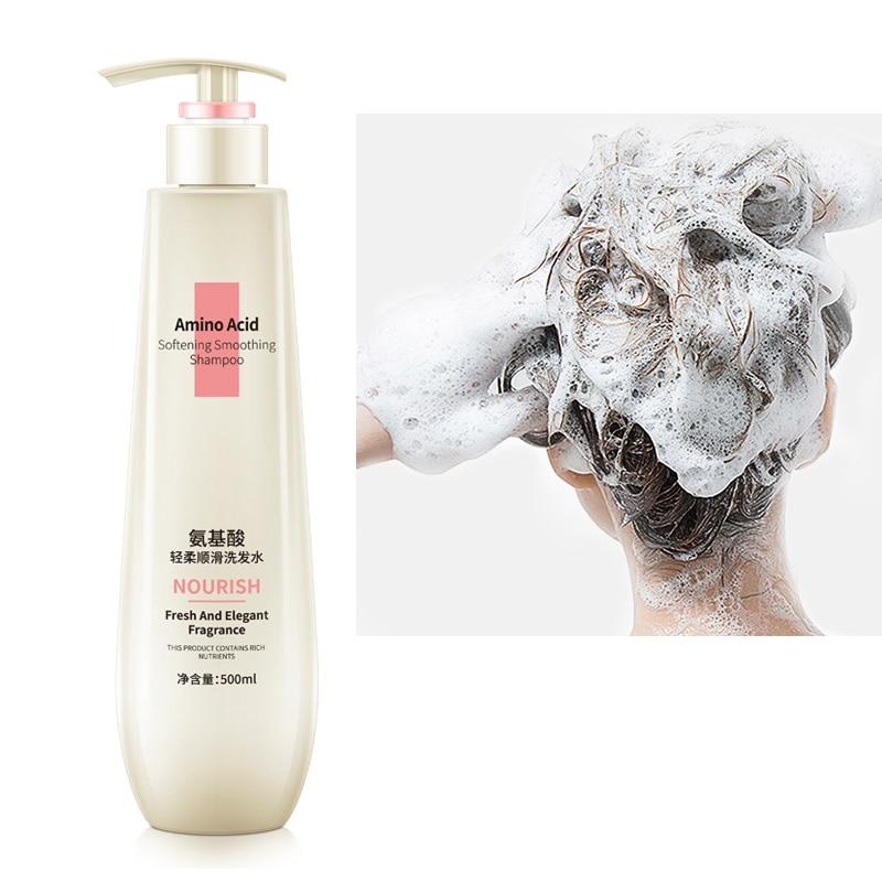 Champú hidratante para el cuidado del cabello, champú anticaspa refrescante, aminoácido, Frizz,...