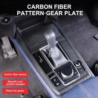 car center console panel cover decorative sticker carbon fiber cup holder gearbox sticker for mazda cx 30 2020 2021 lhd