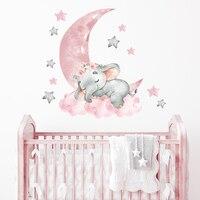 Розовое нижнее белье с принтом детские наклейки на стену в виде слона на воздушном шаре наклейки на стены для декоративный для детской комн...