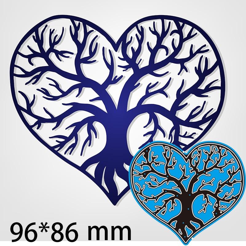 Troqueles de corte calado, corazón con árbol interior, álbum de fotos de...
