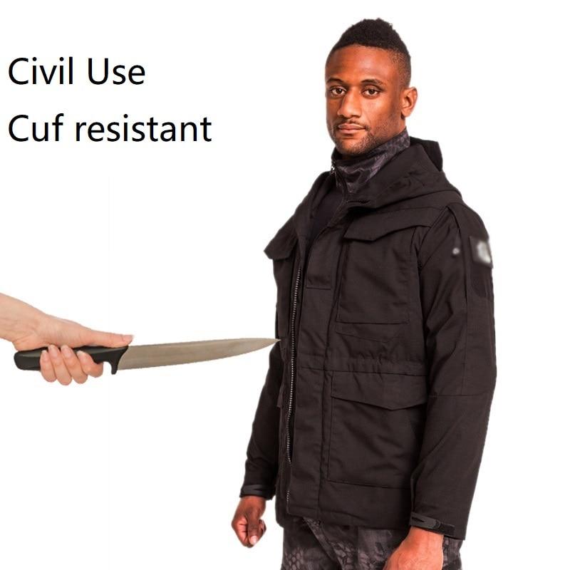 سترة تكتيكية مضادة للقطع بغطاء للرأس ، ملابس خارجية جديدة للدفاع عن النفس مع قناع swat ، سترة تكتيكية ، ملابس مقصوص