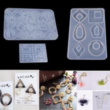 PopularDIY 펜던트 귀걸이 다양 한 컬렉션 라운드 사각형 타원형 전체 접시 보석 장식 실리콘 곰 팡이