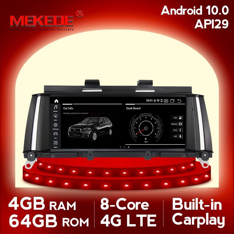 Mekede android10 4 جيجابايت رام 64 جيجابايت روم سيارة مشغل وسائط متعددة راديو تلقائي صالح لسيارات BMW X3 F25 X4 F26 المركزي multimidia لتحديد المواقع والملاحة