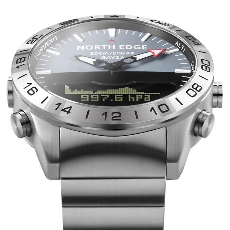 ساعة يد رجالية فاخرة مقاومة للماء ، ساعة غوص احترافية ، مقياس الارتفاع الرقمي ، بوصلة كوارتز ، 200 متر