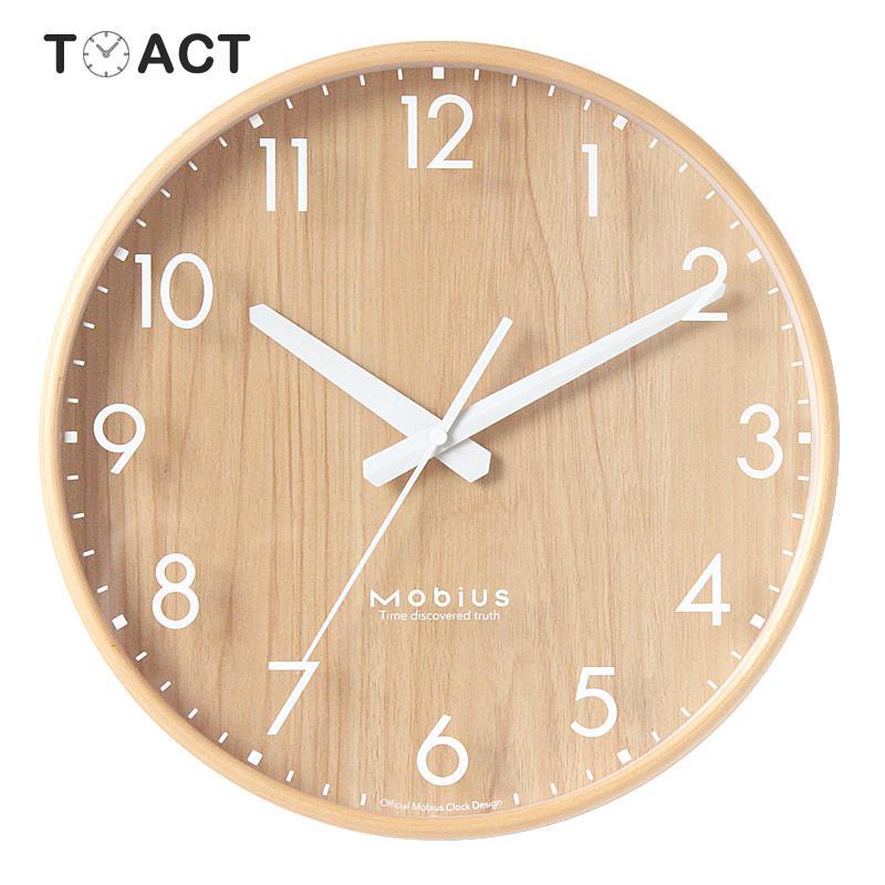 Reloj de pared nórdico de madera Relojes de pared de diseño moderno cocina sala de estar decoración del hogar reloj colgante de madera reloj silencioso redondo de 12 pulgadas