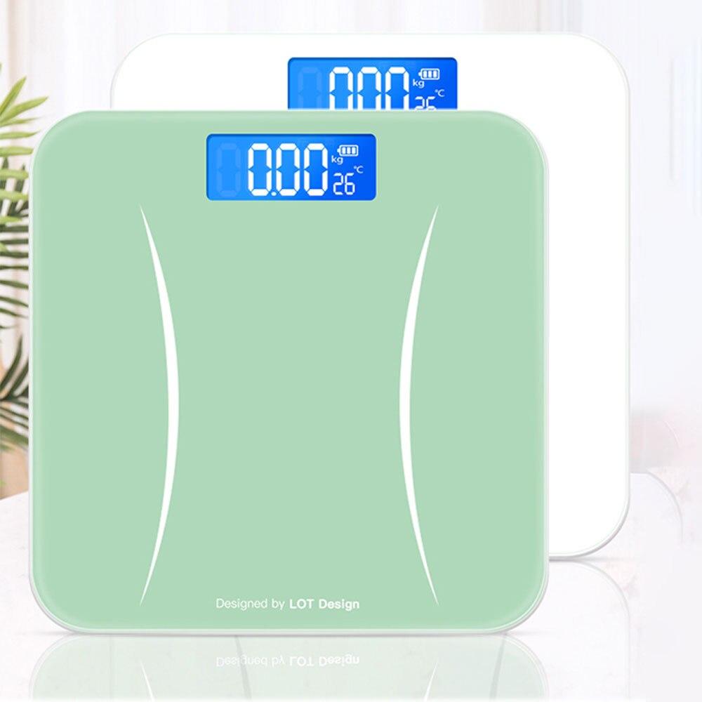 حمام الجسم الطابق الموازين حمام مقياس الجسم وزنها ميزان الجسم الرقمي شاشة الكريستال السائل الزجاج الذكية ميزان إلكتروني الذكية El