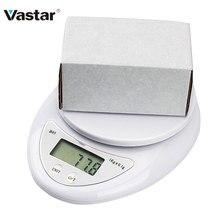 Vastar 1KG 5KG portátil Digital LED balanza electrónica de alimentos balanza Mini Home cocina balanzas precisión Steelyard