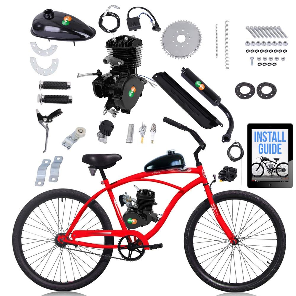 Wholesale 80cc Motorized 2-Stroke Upgrade Bike Conversion Kit DIY Petrol Gas Engine Bicycle Motor Kit