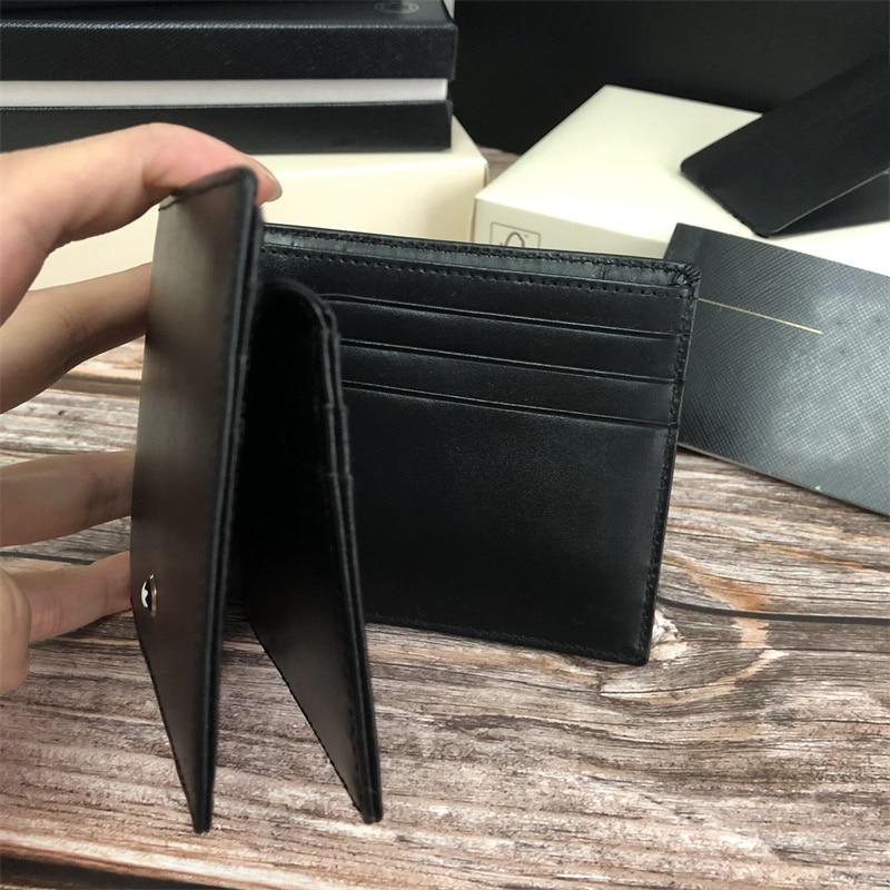 مصمم فاخر محفظة جلدية طويلة للرجال حقيبة صغيرة جلد البقر عادية قصيرة حافظة للبطاقات الائتمان محفظة العلامة التجارية ذات جودة عالية