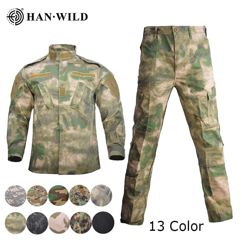uniforme militar men tactical hunting clothing black python camouflage hunting clothes women army combat multicam shirt pants HAN WILD Uniforme Militar Multicam Camouflage Suits Hunting Clothing Tactical Special Force Ropa Uniforms Combat Ghillie Suits