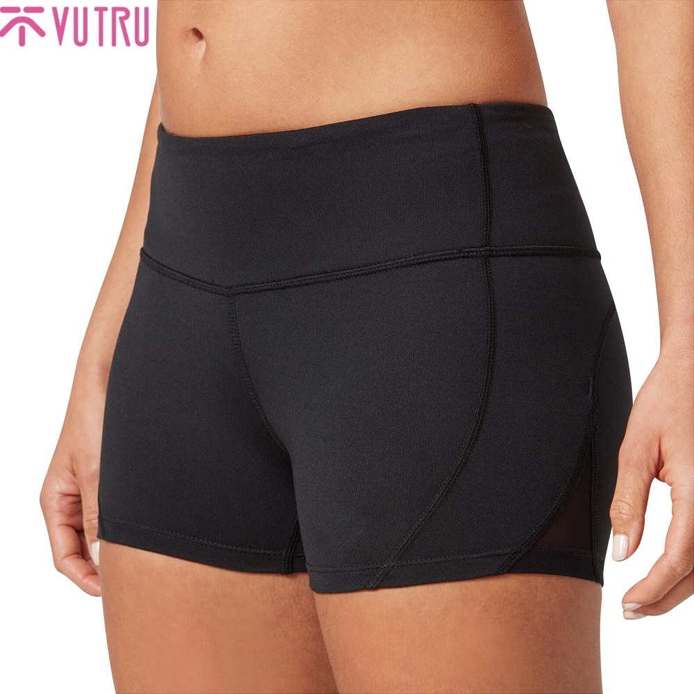VUTRU Women Yoga Shorts Sports Running Sportswear Fitness Seamless Joggers Athletic Exercise Gym Compression High Waist Shorts women sports shorts comfortable elastic band fake two compression solid running yoga shorts