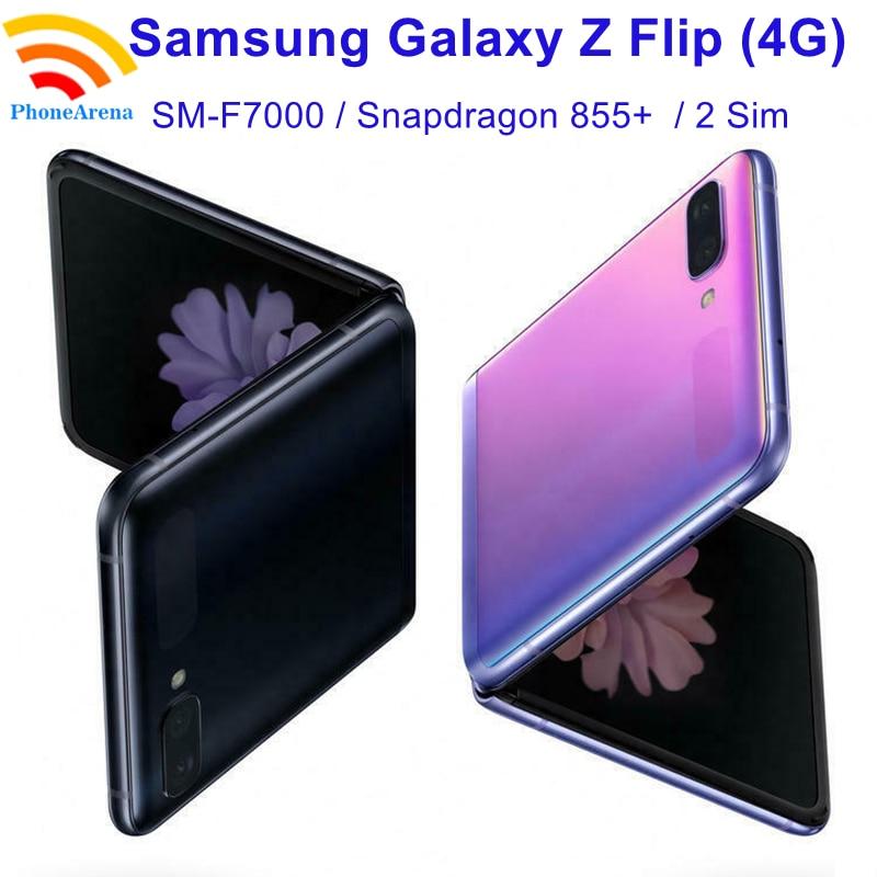 Оригинальный Samsung Galaxy Z Flip F7000 【 100% новый разблокированный складной экран с дв