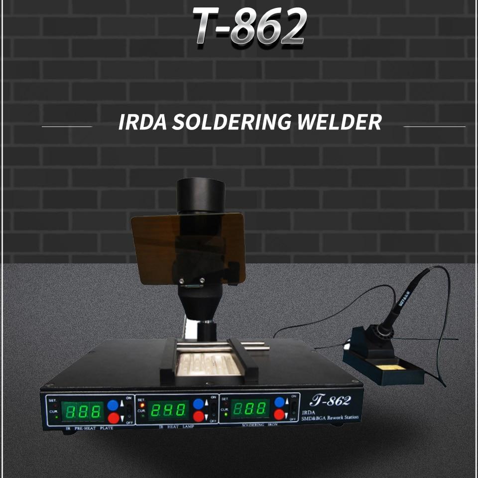 Infrared Rework Reflow Soldering Station BGA SMD SMT desoldering Rework Station PUHUI T-862