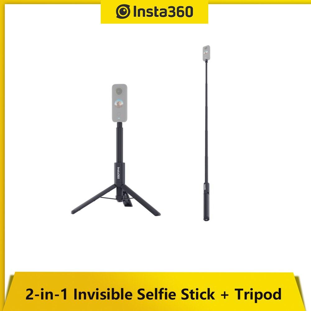 Insta360 2-in-1 غير مرئية Selfie عصا كاميرا ثلاثية ملحق يمتد إلى طويل 109 سنتيمتر دعم GO 2/ONE X2/13a/OEN X
