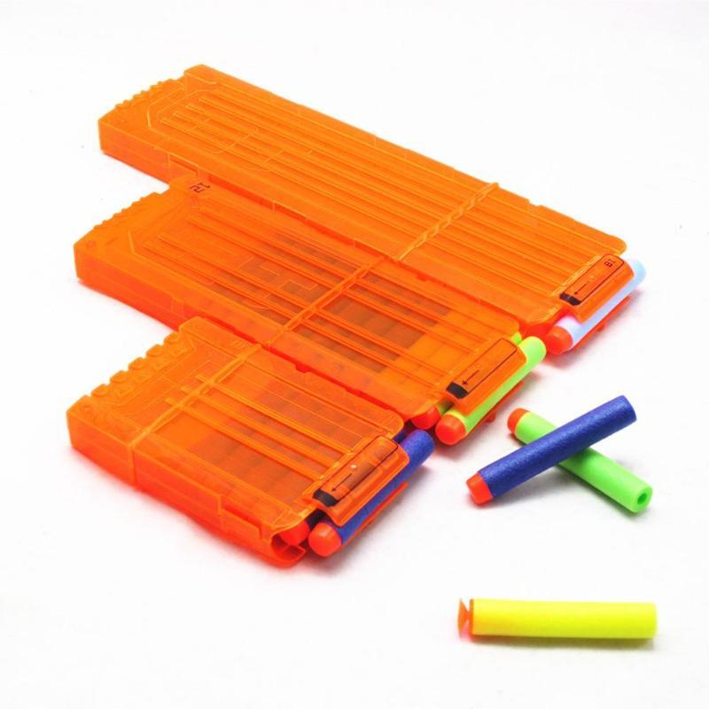 6/12/18 Clip de recarga varias especificaciones opcionales revistas de plástico suave Clip de bala juguete de repuesto de pistola de moda