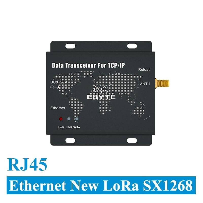e90 dtu 400sl30 eth rj45 ethernet novo lora sx1268 30dbm 1 w 433 mhz tcp udp porta
