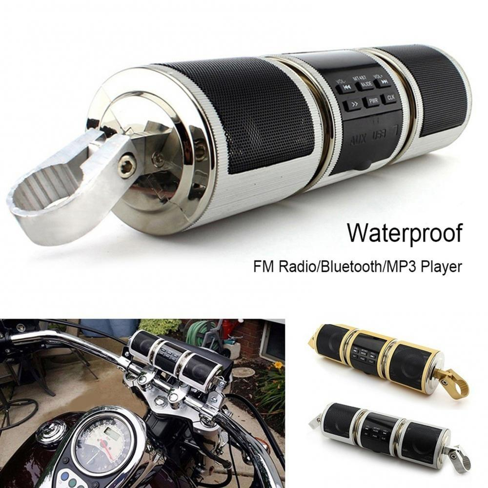 80% Dropshipping!! Motorcycle Bluetooth MP3 Music Player Handlebar Audio Amplifier Stereo Speaker