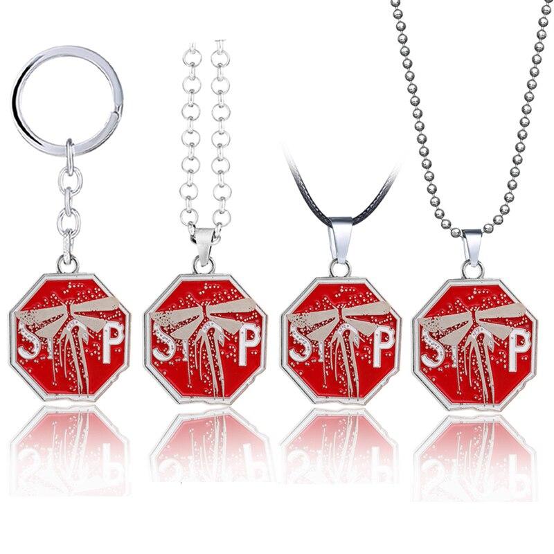 El último de nosotros 2 llavero de metal colgante juego de joyas collar bolsa de coche llaveros regalo llaveros hombres mujeres regalo